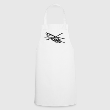 Helicopter / helicopter 01_black white - Cooking Apron