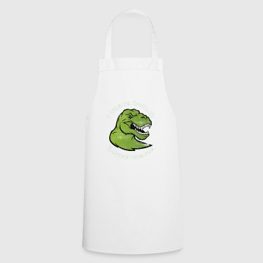 dino lowcarb dinosaur meat gift diet - Cooking Apron