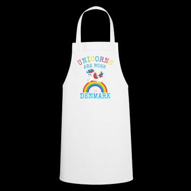 Unicorns are born in Denmark.Funny Danish Unicorn - Cooking Apron