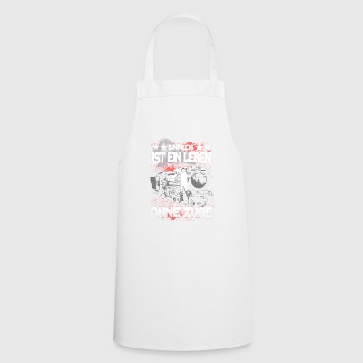 Railroad - meaningless is a life without trains - Cooking Apron