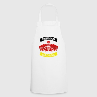 german badass germany football hooligan tattoo - Cooking Apron