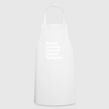 Brows & Lipstick & Eyeliner & Lashes & Highlighter - Cooking Apron