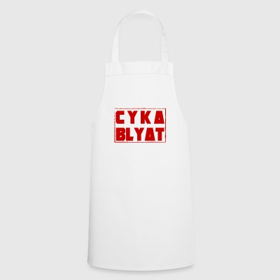 CYKA BLYAT RUSSIAN RED GAMING MOTIVE FUNNY - Cooking Apron
