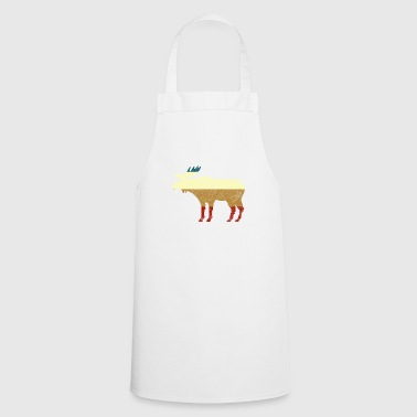Vintage retro moose - Cooking Apron