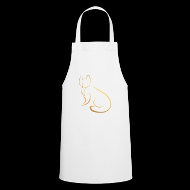 gold cat - Cooking Apron