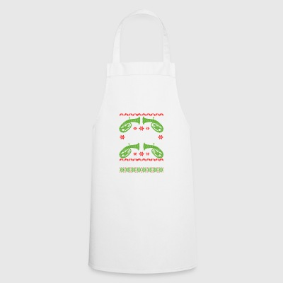 Musician baritone ugly christmas - Cooking Apron