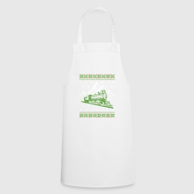 Train Railway Ugly Christmas Jumper - Cooking Apron