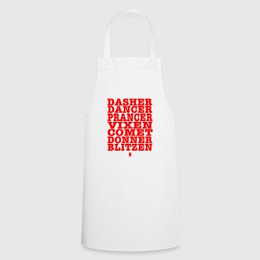 best gift for Christmas - all reindeer - Cooking Apron