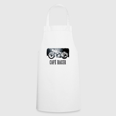 cafe racer bike vintage retro motorcycle biker fun - Cooking Apron