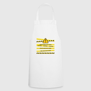danger police cordon - Cooking Apron