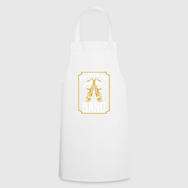 In the band with the saxophone instrument - Cooking Apron