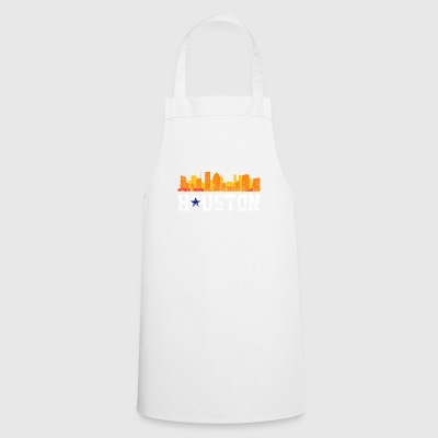 Vintage Retro Houston Texas Distressed - Cooking Apron