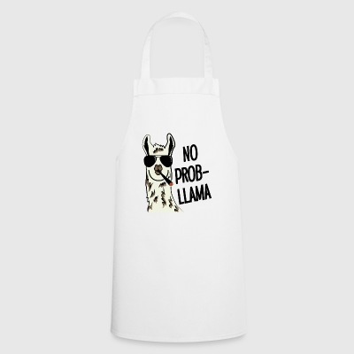 No ProbLlama - pun with a cool Joint-Lama - Cooking Apron