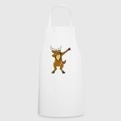 Dabbing Reindeer Xmas Funny Dab Christmas Holiday - Cooking Apron