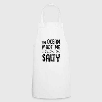 The Ocean Made Me Salty Hipster Surfer - Cooking Apron