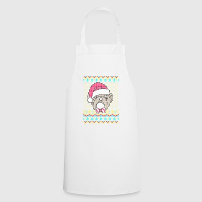 Old English Bulldog Ugly regalo maglione di Natale - Grembiule da cucina