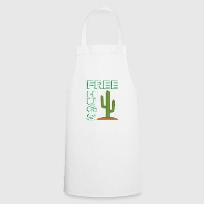 Free Hugs Cactus Funny T-Shirt Gift - Cooking Apron
