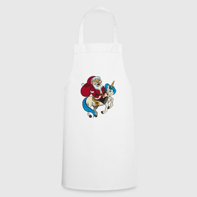 Santa riding unicorn Christmas gift - Cooking Apron