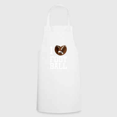 I Love American Football Fan Shirt with Heart - Cooking Apron