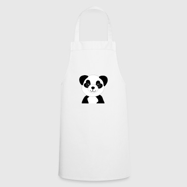 Panda bear baby with heart eyes - Cooking Apron