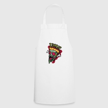 Zombie pizza for Halloween scary gift - Cooking Apron