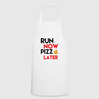 Funny pizza shirt gift for runner + sportsman - Cooking Apron