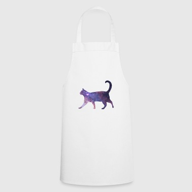 Space in Cat Fur Cat Milky Way Gift - Cooking Apron