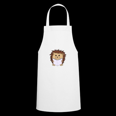 Bookworm hedgehog bookworm Book nerd hedgehog - Cooking Apron