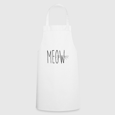 whisker black meow font - Cooking Apron