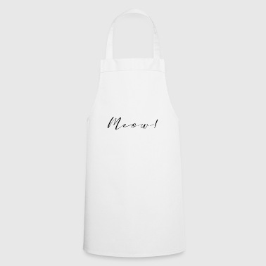 meow font - Cooking Apron