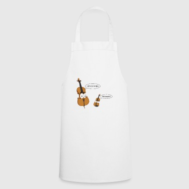 Personified Cello says to personified Violin - Cooking Apron