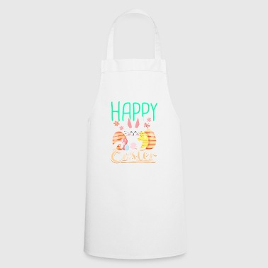 Happy easter gift easter bunny easter eggs cartoon - Cooking Apron