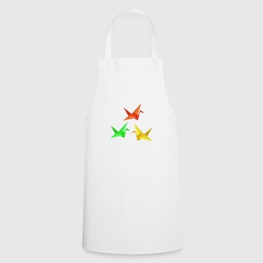Japanese origami paper crane - Cooking Apron