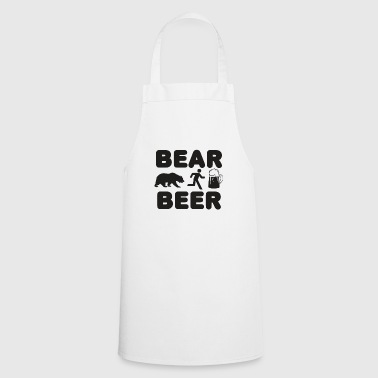 Bear & Beer - Man away from bear to beer - Cooking Apron