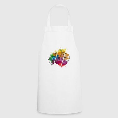 Bicycle - splash of color summer hipster gift - Cooking Apron