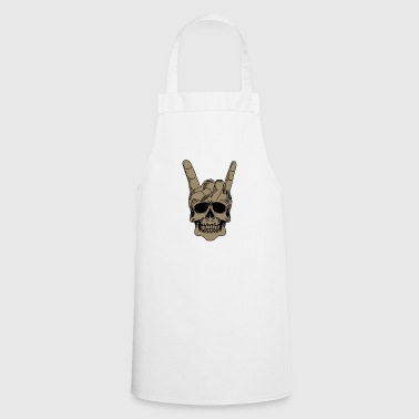Heavy metal skull with devil horns - Cooking Apron