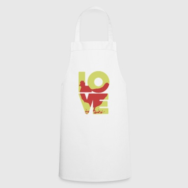 Cool Love Chicken T-shirt - Cooking Apron