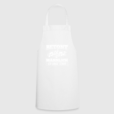 Stressed male tenor choir music - Cooking Apron
