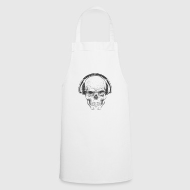 DJ skull with headphones - Cooking Apron