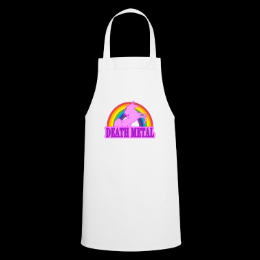 Unicorn Death Metal Rainbow cadeau - Tablier de cuisine