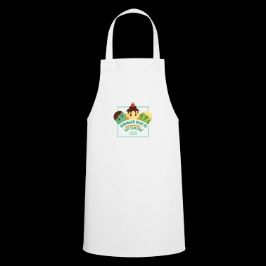 Party gift ice cream holiday sun beach saying - Cooking Apron