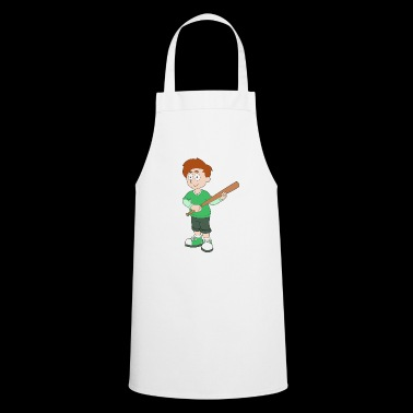 Young baseball bat green sportsman gift idea - Cooking Apron