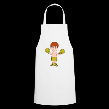 Cartoon boxer winner boy boxing gloves gift - Cooking Apron