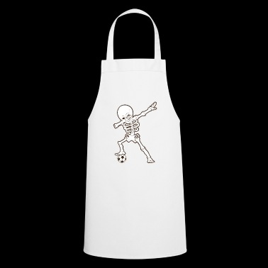 Dabbing Skeleton Soccer T-Shirt Soccer Skeleton - Cooking Apron