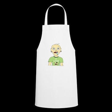 I love Football Ultra Shirt with football fan - Cooking Apron
