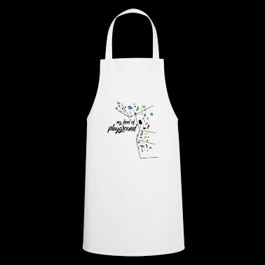 my kind of PLAYGROUND - climbing wall T-shirt - Cooking Apron