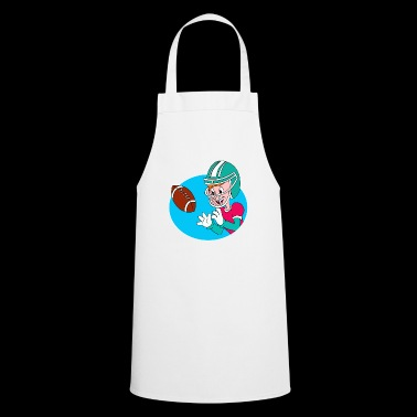 Comic american football player, gift idea - Cooking Apron