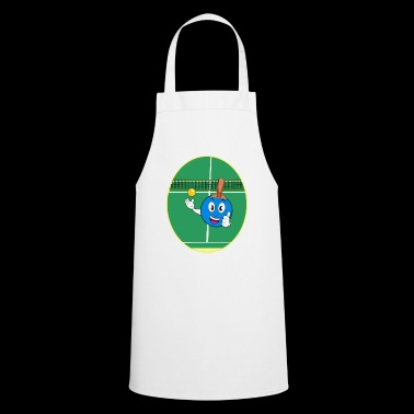 blue comic table tennis racket Gift idea - Cooking Apron