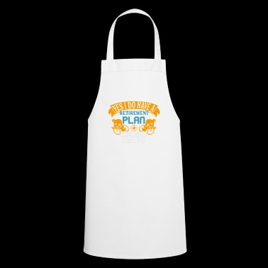 Retirment Plan Cycling Shirt with cyclists - Cooking Apron