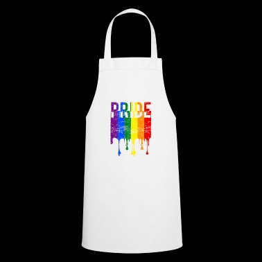 Gay pride rainbow banner - Cooking Apron